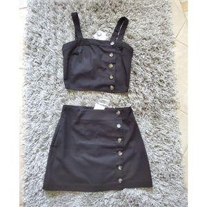 Tilly's 2 piece set crop and skirt